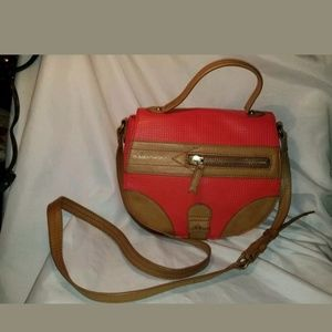 B Makowski crossbody purse leather